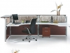 Contemporary laminate reception desk (Artopex Time series)