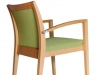 Wood stacking arm chair Celine arm Beaufurn - m12ce