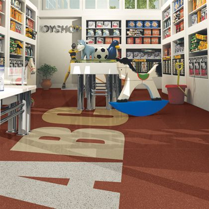 Mannington rubber flooring tiles