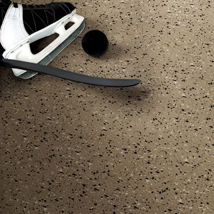 Mannington sports rubber floor (spikes and ice skate wear-resistant)