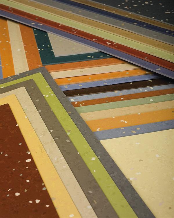 Nora durable rubber floor tiles environcare