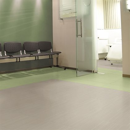 Rubber flooring - Silence by Mannington (requires no waxing)