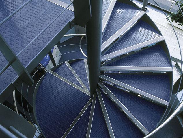 Rubber flooring stairway nora rubber
