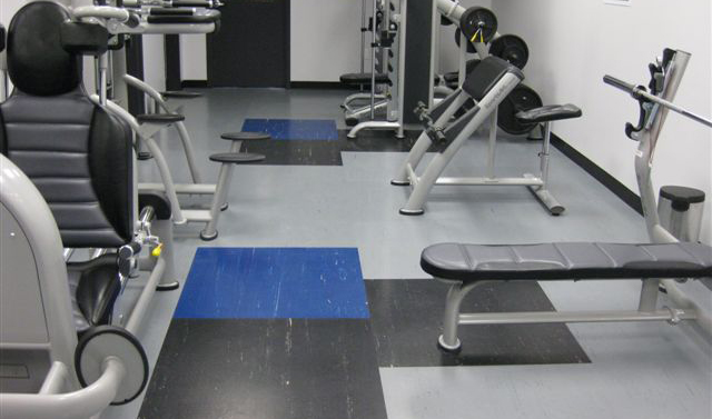 Rubber gym weight training floor tiles - Nora