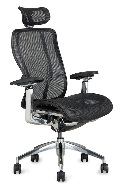 Black mesh back chrome frame desk chair Vesta - 9to5 Seating