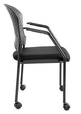 Breeze guest chair with casters fabric-seat