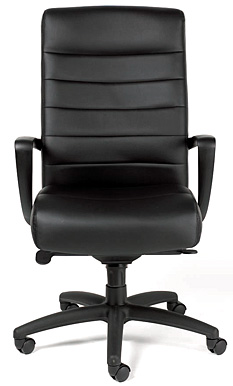 High back leather executive chair black Eurotech