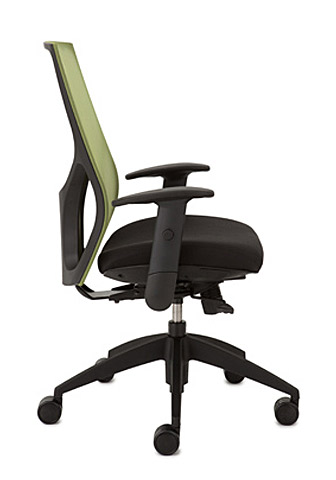 Mesh back office desk chair vault 9to5 seating