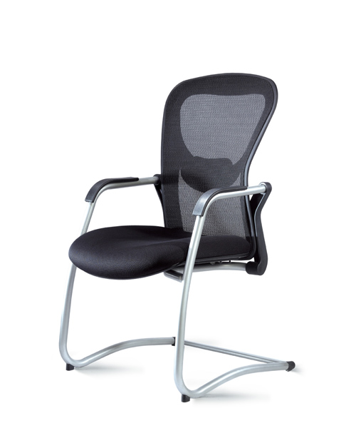 Strata black mesh guest side chair