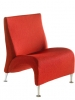 Nightingale Lush lounge chair color red - 825