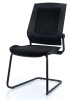 Black guest chair black sled base frame bodyflex Eurotech