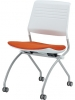 Folding nesting chair silver frame armless (Switch by Eurotech)