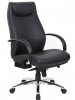 Heated desk chair black and chrome Boss Malibu
