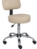Vinyl fabric medical stool boss