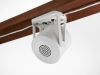 Quiet technology universal mount in white installed diagonal