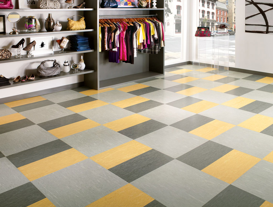 Armstrong rectangle shape VCT flooring Raffia series