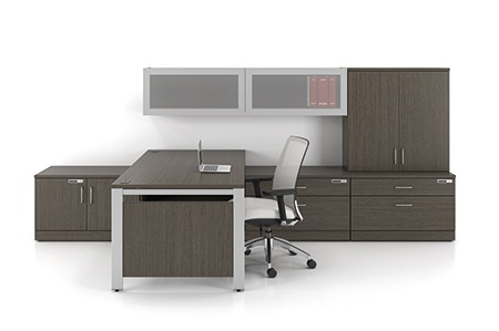 Artopex Take off series floating desk office configuration