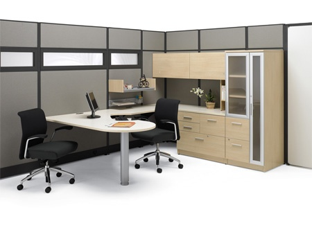 Artopex modular desk suite Take Off series peninsula desk top