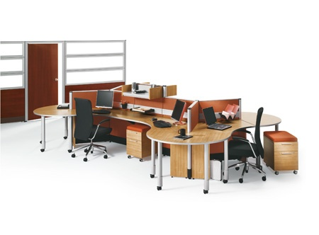 Freestanding office collaborative workstation Artopex Uni-T