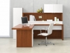 Nucraft Neos award winning office furniture collection L-shaped office