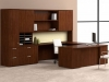 Wood modern office U-shaped workstation Nucraft Equate