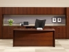 Veneer wood executive office desk workstation Indiana furniture