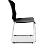Eurotech S3000 Black Stacking Guest Chair with Glides