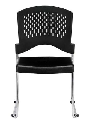 Buy Eurotech S4000 Black Stacking Guest Chair with Floor Glides