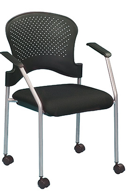 Eurotech Breeze guest chair stack chair with casters FS8270