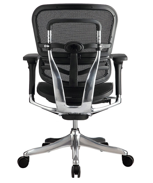Eurotech Ergo Elite Mid Back Modern Ergonomic Black Mesh Desk Chair View ME5ERGLTLOW