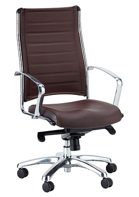 ... Eurotech Europa Leather High Back Brown Leather Chair LE811 BRNL ...