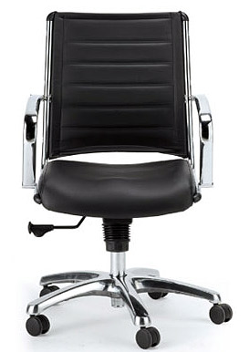 Eurotech Europa Chair With Leather And Chrome Mid Back / High Back