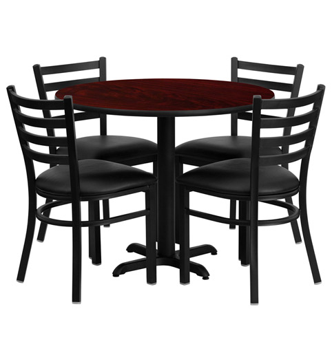 Cafeteria Breakroom Round Dining Table Sets Restaurant Tables Chairs
