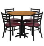 Round Cafeteria Dining Table Sets