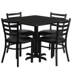 Square Cafeteria Dining Table Sets