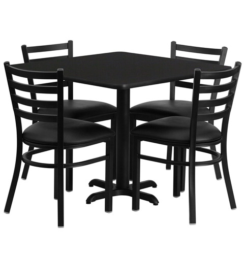 Cafeteria Breakroom Square Dining Table Sets Restaurant Tables
