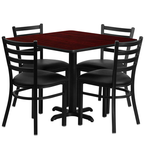 Cafeteria Breakroom Square Dining Table Sets Restaurant