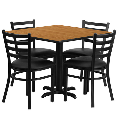 Cafeteria Breakroom Square Dining Table Sets-Restaurant Tables/Chairs