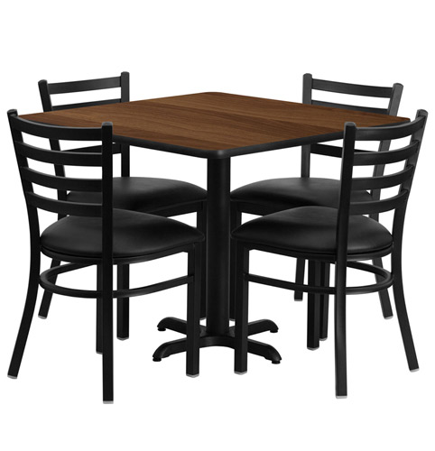 Table In Restaurant : Cafeteria Breakroom Square Dining Table Sets-Restaurant Tables/Chairs