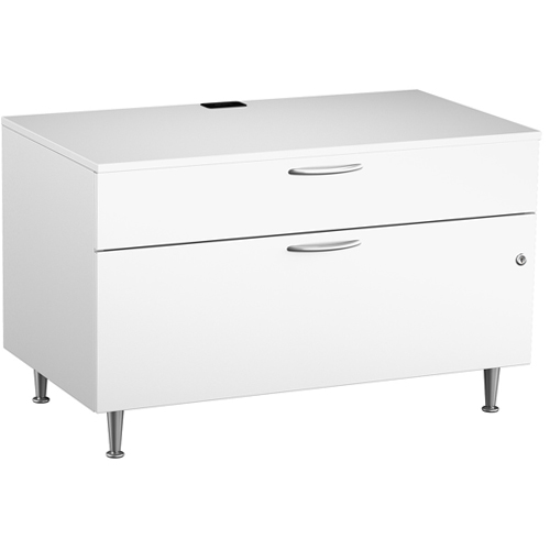 Great Openings Two Drawer Low Storage Cabinet 30 Inches Wide Cayenne Series