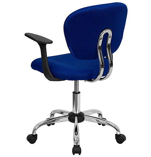 Mesh Fabric Office Chair With Arms And Chrome Base