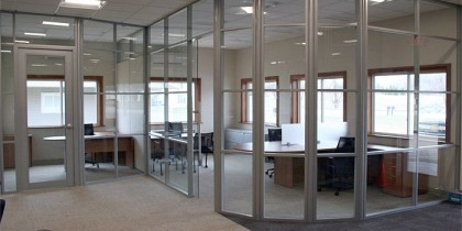 movable wall system, floor coverings, private office desking, lounge open area
