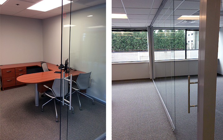 Artopex Private Office U-shaped Desks with NxtWall Glass Walls