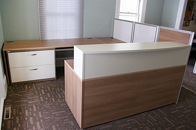 ARTOPEX custom laminate u-shaped desk suite