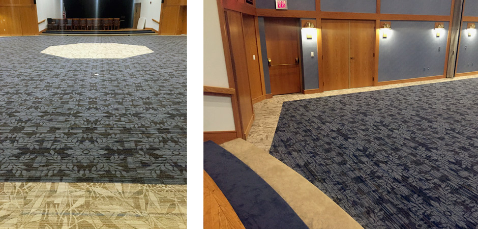 Interface flooring carpet tile installation image