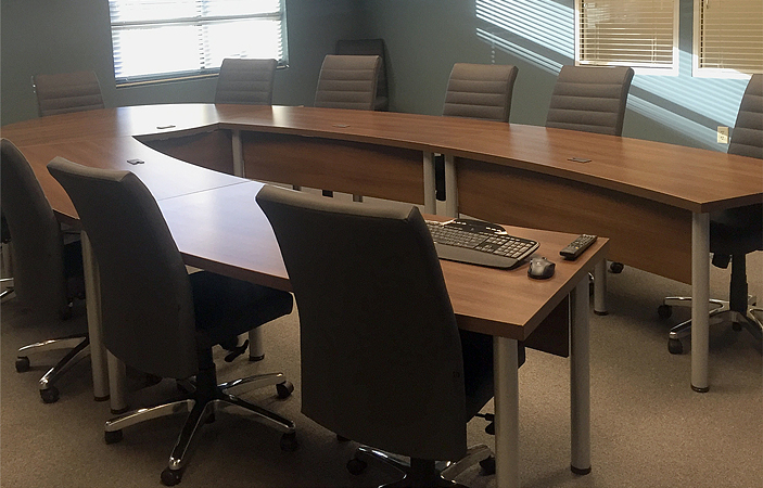 Project U Shaped Conference Table With Leather Conference Chairs - U shaped conference table designs