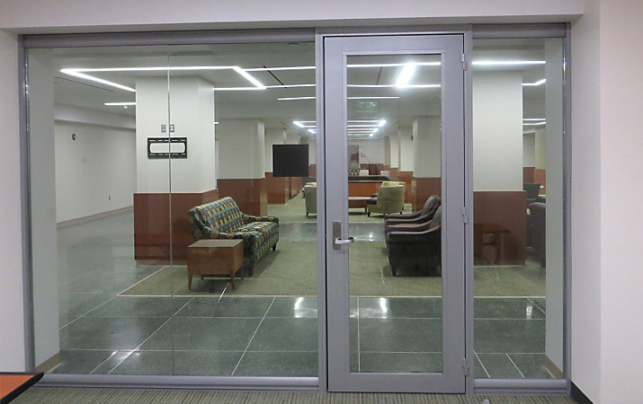 Glass Wall System for University Waiting Room / Lounge by Office One